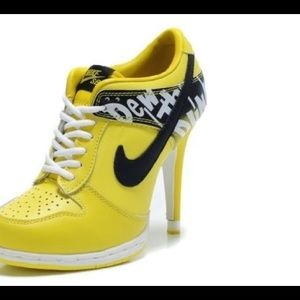 Yellow NIKE High Heels *New*